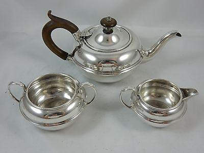 ATTRACTIVE, solid silver BACHELORS TEA SET, 1917, 401gm