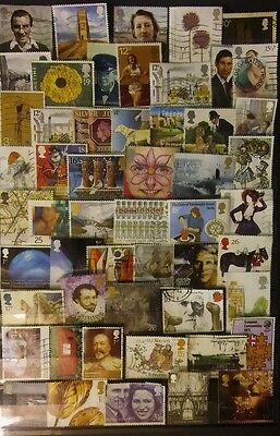 QE2 50 different GB good used commemorative stamps
