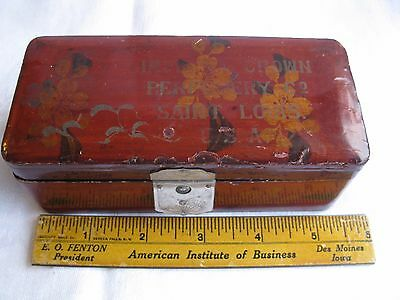 Small Antique Lacquered Box ~ Imperial Crown Perfumery Co. Saint Louis Missouri