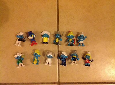 smurfs Figures Toys Cake Toppers Party Bags