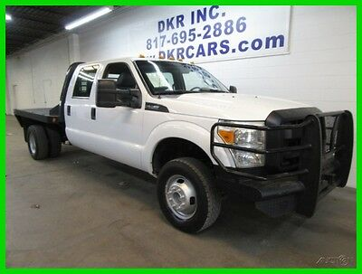 2012 Ford F-350 Crew Cab 4x4 Flatbed 2012 Ford F-350 Crew Cab Dually 4x4 V8 Service Contractors Flatbed
