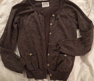 Zara Girls Age 7-8 Gold Sparkly Cardigan