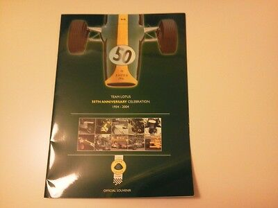 Team Lotus 50th Anniversary Celebration Booklet