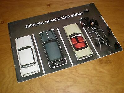 Triumph Herald 1200 Series Uk Brochure - 342/1064 - Published 1965 Approx