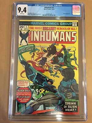 The Inhumans #1 - 1975 Marvel - CGC 9.4 NM Free Shipping