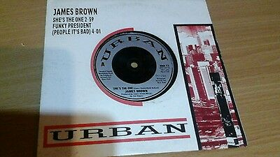 """James Brown - She's The One / Funky President 7"""" 45 Vinyl Unplayed Mint"""