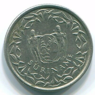 1979 Suriname 10 Cent Nickel Coin S13312
