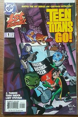 Teen Titans Go! #1 - Truth, Justice, Pizza! (Oct 2004, DC) 1st Young Raven TV