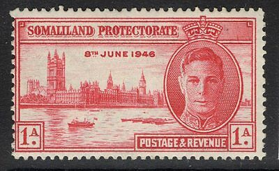 SOMALILAND SG117a 1946 1a VICTORY p13½ MTD MINT