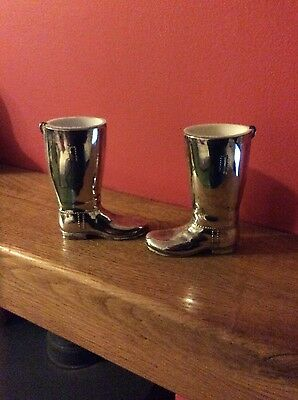 a pair of silver plated riding boots spirit measures