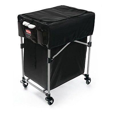 Rubbermaid 1889863 Collapsible Black X-Cart Cover – Small