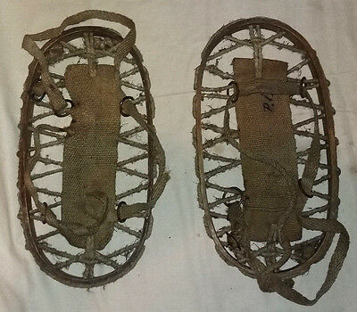 Romanian  VINTAGE 1943 WWii Military Snowshoes very rare