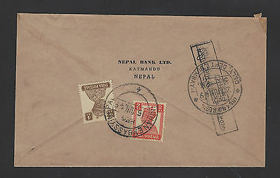 India 1949 Kgvi Used Abroad Cover Indian Embassy Nepal To Bombay
