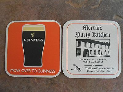 Guinness Beermat. Morris,s Purty Kitchen, Old Dunleary, Co. Dublin.