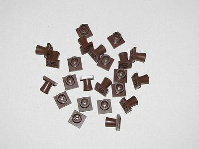 Lego Lot Of Tree Trunk Root Pieces Bottom Parts Brown Forest Trees