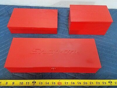 3 Snap On Tool Parts Box Boxes Chest Kra-104 Kra-111A Kra-40