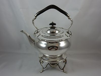 QUALITY, solid silver KETTLE ON STAND, 1909, 1179gm
