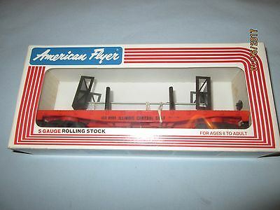 American Flyer #6-48505 Illinois Central Flat car with bulkheads. New in Box