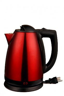 Brentwood  2.0 Liter Stainless Steel Electric Cordless Tea Kettle, Red