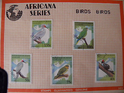 Republic of Benin Birds Stamps Collection 1996