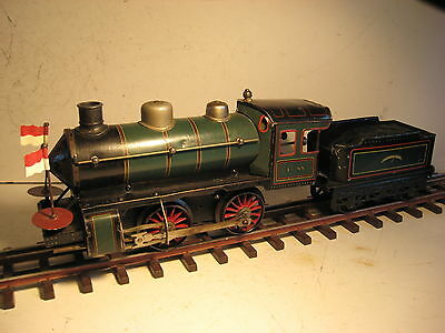 Bing Gauge 1 / G Gauge 0-4-0 Tender Locomotive - Clockwork.-For Repair