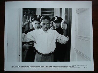 """""""Hands Up Don't Shoot"""" Rare Vintage 1993 Malcolm X Spike Lee PRESS PHOTO 8 X 10"""