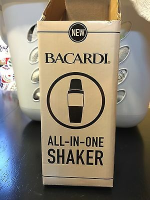 NEW Bacardi All-In-One Shaker Stainless Steel