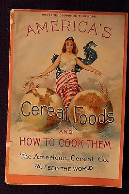 """1890s """"America's Cereal Foods and How to Cook Them"""" booklet"""