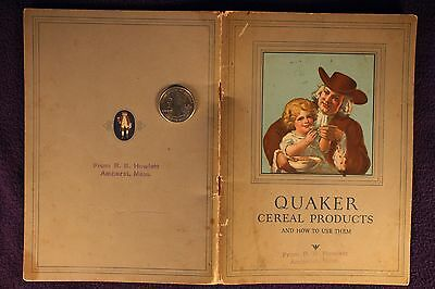 """1927 """"Quaker Cereal Products and How to Use Them"""" Book"""