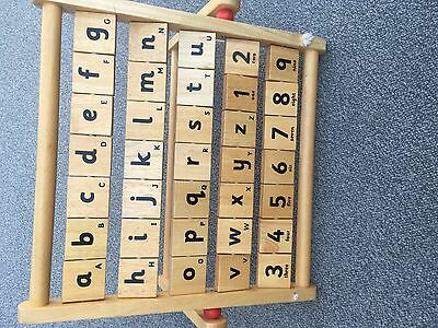 childrens Alphabet/counting/picture Abacus