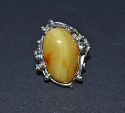 Vintage  Baltic Amber  Jewelry Ring  9 gr