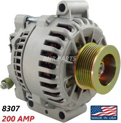 200 AMP 8307 Alternator Ford E F Super Duty 6.0L High Output Performance HD NEW