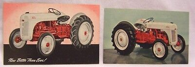 1950's Ford Tractor Advertising Post Cards Nice Pair!