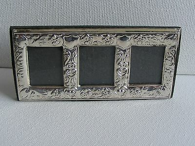 Silver Fronted Miniature Triple Photo Frame