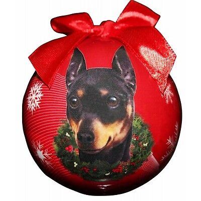 Miniature Pinscher Min Pin Shatterproof Ball Dog Christmas Ornament