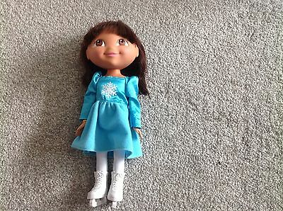 Dora The Explorer Holiday Sparkle Doll Ice Skate Rare To Find