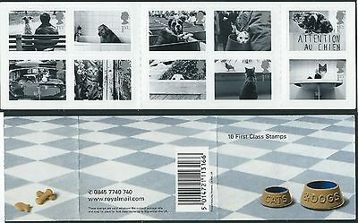 STAMPS GB BOOKLET/SHEETLET SG 2187A CATS AND DOGS 10x1ST MNH