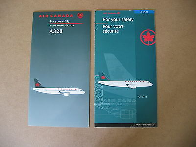 Air Canada  A320 & A320M  Safety Cards