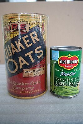 c1920s  - 1930s Quaker Rolled White Oats Empty Cardboard Container