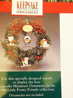 Hallmark Frosty Friends memory wreath Dated 1990 with all ornamnets