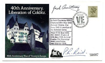 COLDITZ - 2 x Signatures, one Escaper, BEF 1940