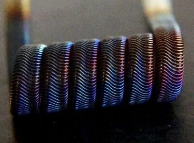 SALE! 2 NICHROME 8 Ply 6 Wrap Framed Staple Alien Coils + Free Coils (Clapton)
