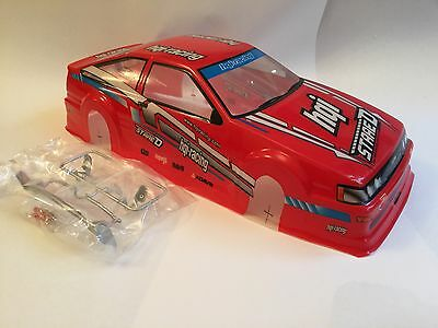 RCG Racing Toyota AE86 Levin 1/10th RC Car Body Shell Red 190mm Drift