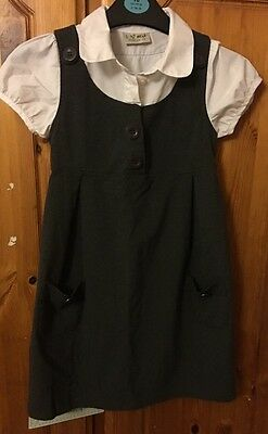2 Next School Pinafores With Blouse Age 6. Great Condition