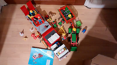 Playmobil Rescue Lorry And Other Vehicles And Figures