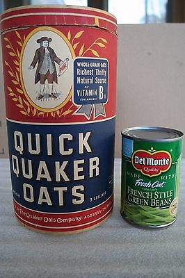 1940s Quaker Quick Oats Empty Cardboard Container