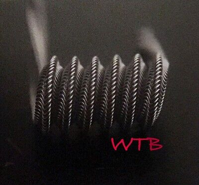 2 Nichrome 6 Wrap Mohawk Alien Coils + free coils/cotton (Staple, Clapton, Fused