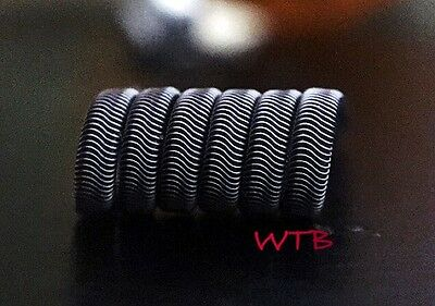 2x SS316L 6 Wrap Alien Coils (26/36g) + free coils! (TC/VW, Stainless Steel)