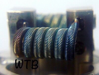 2 NICHROME Alien Fused Clapton Coils (6 Wrap) w/ free coils! (Clapton, Twisted)