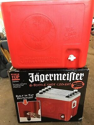JAGERMEISTER 6 Bottle Shot Cooler With Built in Tap -Gently Used! w/Original Box
